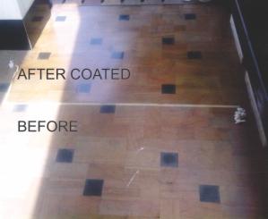 hasil setelah di coating terlihat lebih bersih, warna lebih cerah dan tahan air